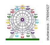 colorful ferris wheel on white... | Shutterstock .eps vector #778504327