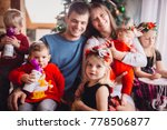 the mother father and children... | Shutterstock . vector #778506877