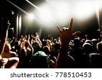 a silhouettes of concert crowd... | Shutterstock . vector #778510453