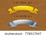 vector cartoon gold and silver...