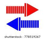 arrow icon vector red blue... | Shutterstock .eps vector #778519267