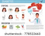 diabetes infographic. diabetes  ... | Shutterstock .eps vector #778522663