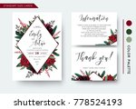 wedding invite  invitation save ... | Shutterstock .eps vector #778524193