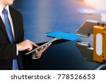robotic arm control by business ... | Shutterstock . vector #778526653