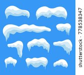 snow ice icicle set winter... | Shutterstock . vector #778538347