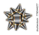 silver bow ribbon 3d decor... | Shutterstock . vector #778544077