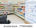 pharmacy drugstore shop... | Shutterstock . vector #778544083