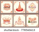 ornate square winter holiday... | Shutterstock .eps vector #778560613