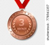 realistic 3d bronze trophy...   Shutterstock .eps vector #778561357