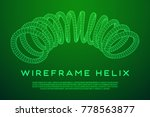 wireframe low poly mesh tension ... | Shutterstock .eps vector #778563877