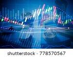 financial stock market in... | Shutterstock . vector #778570567