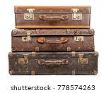 old suitcases isolated on white ... | Shutterstock . vector #778574263