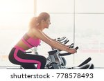 young happy woman in fitness...   Shutterstock . vector #778578493