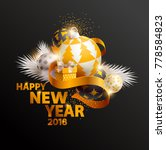 happy new year greeting card...   Shutterstock .eps vector #778584823
