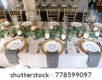 wedding. banquet. the chairs... | Shutterstock . vector #778599097