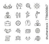 head hunting related icons ... | Shutterstock .eps vector #778600867