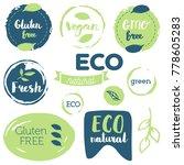 fresh  organic  gluten free ... | Shutterstock .eps vector #778605283