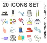 sewing  atelier cartoon icons... | Shutterstock .eps vector #778606717