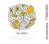 tropical island icon set ... | Shutterstock .eps vector #778607803