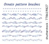 set of abstract brush patterns  ... | Shutterstock .eps vector #778619827