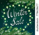 winter sale poster template... | Shutterstock .eps vector #778628677