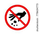 no littering sign. symbol ...   Shutterstock .eps vector #778634773