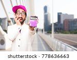 young crazy businessman with a... | Shutterstock . vector #778636663