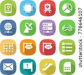 flat vector icon set   report... | Shutterstock .eps vector #778646107