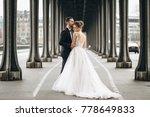 wedding couple in france   Shutterstock . vector #778649833