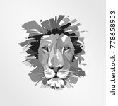 lion head   vector logo... | Shutterstock .eps vector #778658953
