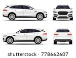 realistic suv car. front view ... | Shutterstock .eps vector #778662607