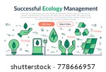 vector linear web site header... | Shutterstock .eps vector #778666957