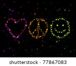 constellations forming love ... | Shutterstock .eps vector #77867083