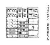 supermarket shelves design... | Shutterstock .eps vector #778672117