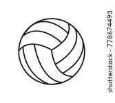 volleyball ball design | Shutterstock .eps vector #778674493