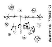 merry christmas. new year's... | Shutterstock .eps vector #778689403