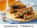 gauda cheese roasted mushrooms...   Shutterstock . vector #778689613