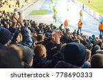 football fans clapping on the... | Shutterstock . vector #778690333