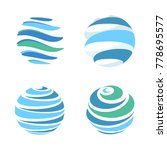 abstract blue global planet... | Shutterstock . vector #778695577