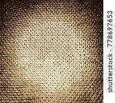 close up of a jute material ... | Shutterstock .eps vector #778697653