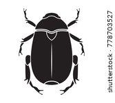 scarab icon. vector realistic... | Shutterstock .eps vector #778703527