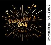 valentines day vector vintage... | Shutterstock .eps vector #778711873