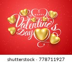 happy valentines day. font... | Shutterstock .eps vector #778711927
