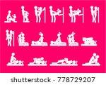 kamasutra  love position for... | Shutterstock .eps vector #778729207