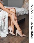 slim legs of bride in heels ... | Shutterstock . vector #778729723