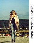 pretty girl young beautiful... | Shutterstock . vector #778735477
