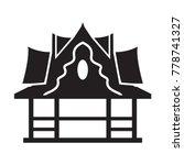 thai pagoda vector icon.... | Shutterstock .eps vector #778741327