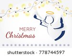 vector christmas angel. paper... | Shutterstock .eps vector #778744597