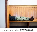 lazy at a station | Shutterstock . vector #778748467