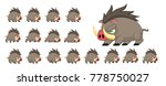 boar animated game character... | Shutterstock .eps vector #778750027
